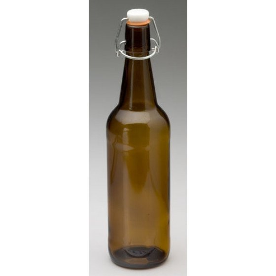Glass Flip Top Bottle 750ml Amber - Case of 12
