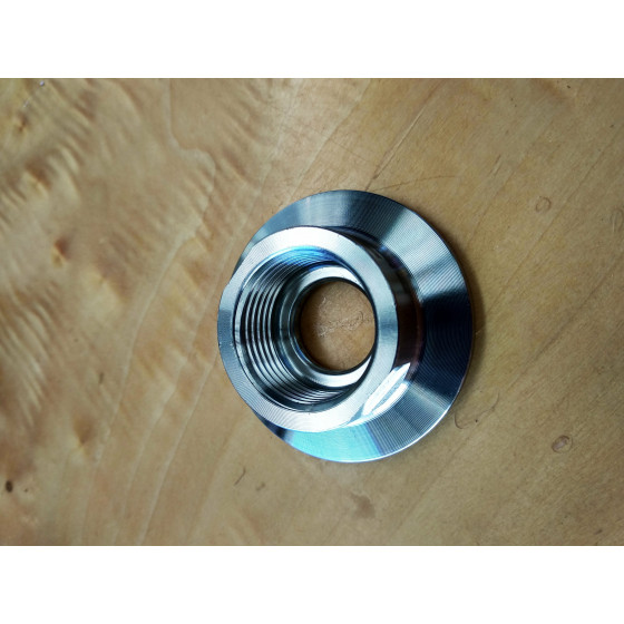 "1.5"" Tri-Clamp cap with 3/4"" BSP female"