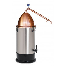Craft distilling kit - SS Copper Pot Condensor, Alembic Dome & T500 Boiler