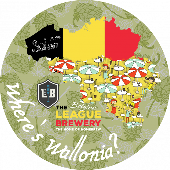 "The League ""Where's Wallonia"" - Belgian Saison Partial Mash Kit 23l"