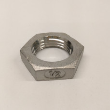 """1/2"""" Inch BSP 316 stainless hex Back Nut"""