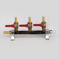 3 Way Gas Line Manifold Splitter With Check Valves