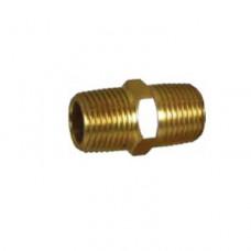 Brass No 27 1/4 Hex Nipple