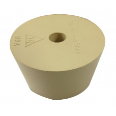 Rubber stopper / bored bung. #10 w/airlock hole (for plastic carboy)