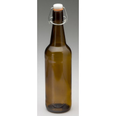Glass Flip Top Bottle 750ml Amber - Case of 12