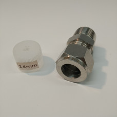 14mm Stainless Compression Fitting to 1/2 inch BSP Male
