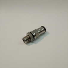Gas Ball Lock Post with 1/4 Inch Bulkhead Assembly